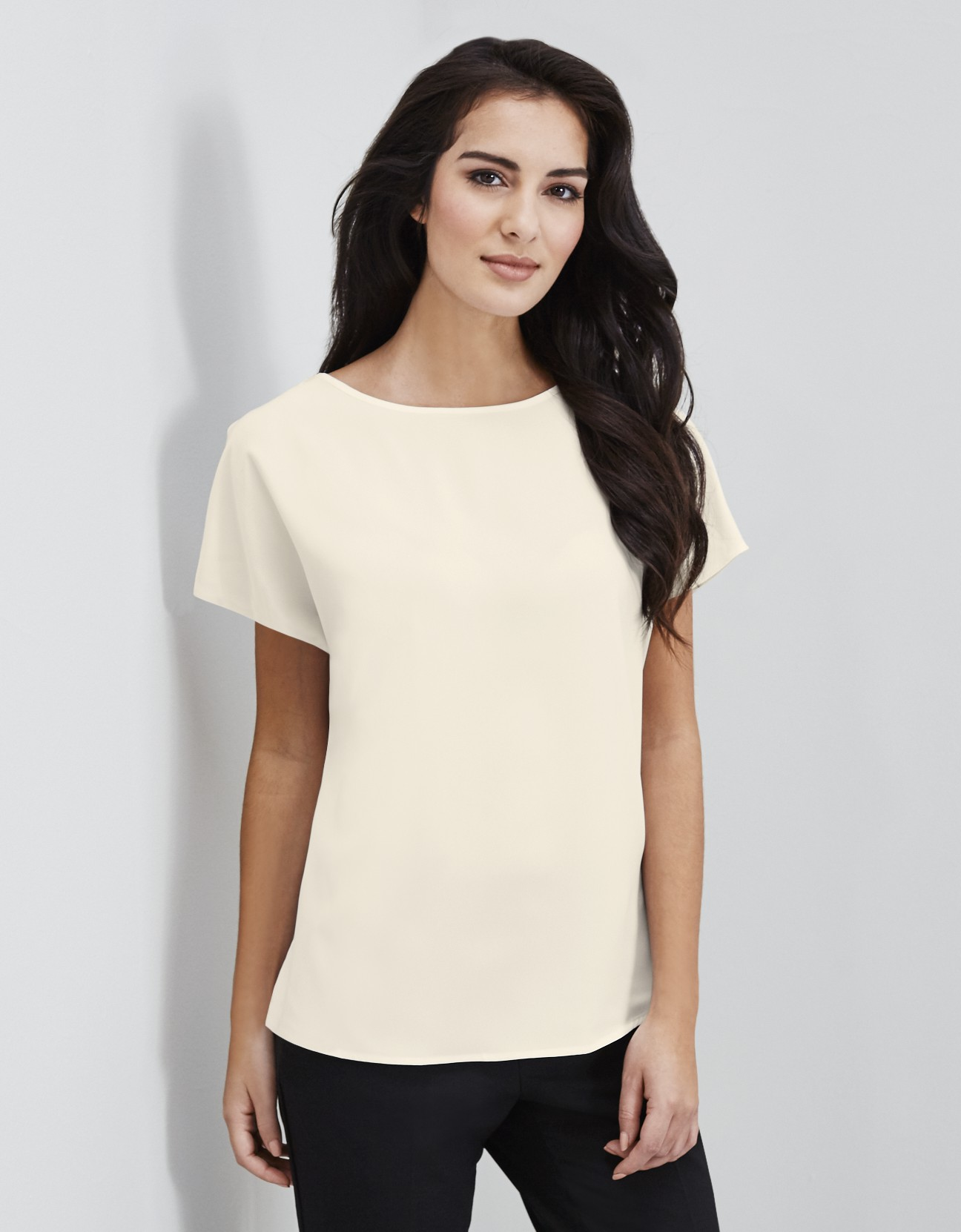 Slash neck blouse