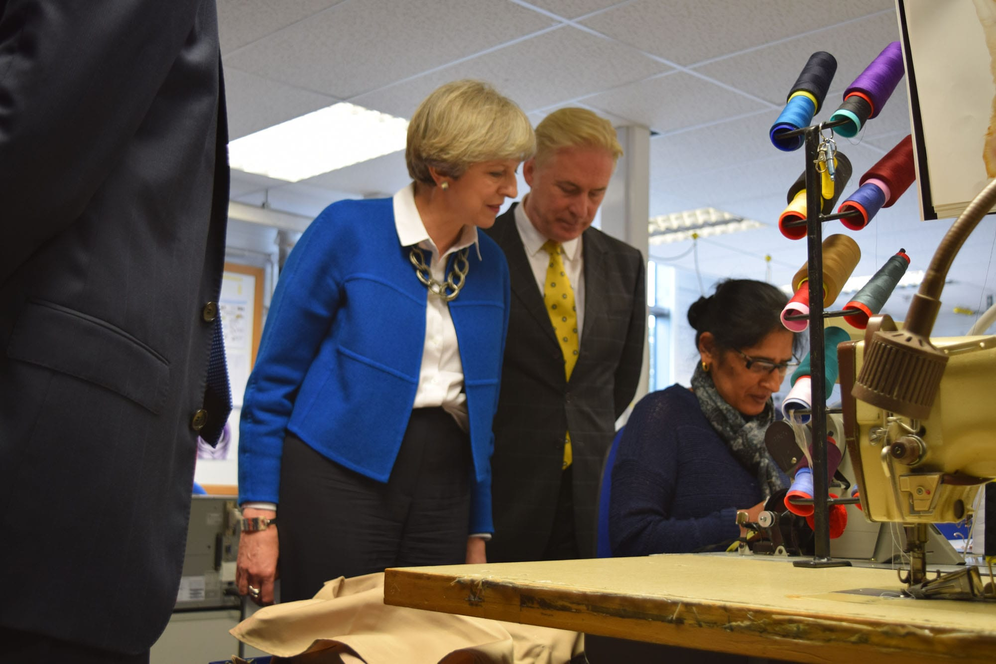 Prime Minister Theresa May visits Simon Jersey