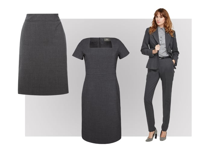 Charcoal womens suiting uniform