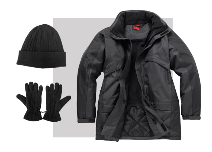 All-weather workwear