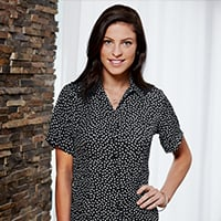 receptionist crepe blouse