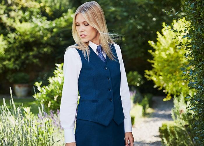 Smart hospitality waistcoat