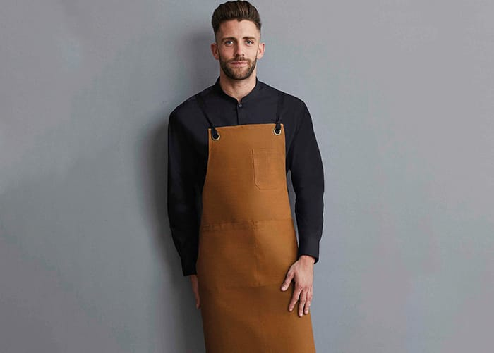 Fashionable apron for cafe or bar