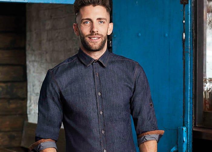 Bar or restaurant denim shirt