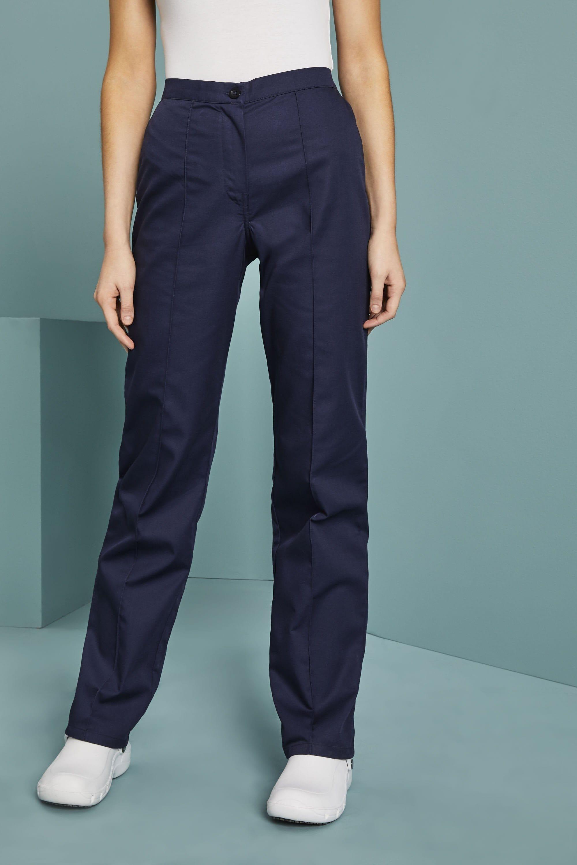 Women S Flat Front Trousers Navy