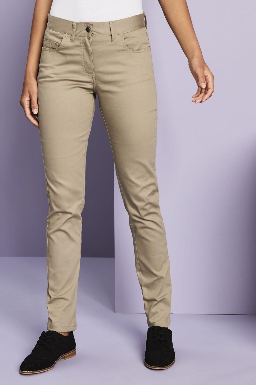 Pantalon Femme Ajusté Stretch, Kaki - Vêtements Professionnels de Simon Jersey Royaume-Uni