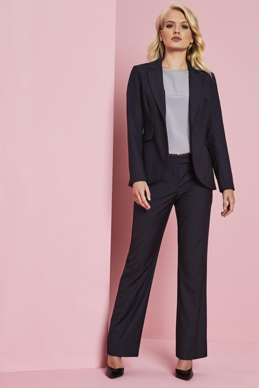 f054e4223f683 Alderley Women's Blue Sharkskin Trouser Suit