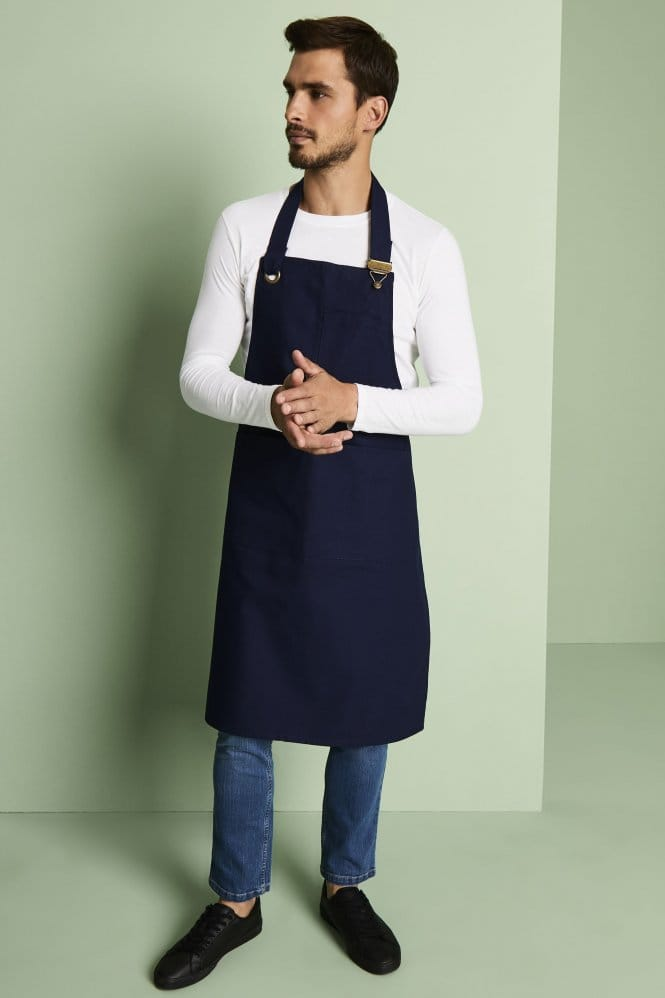 Canvas Clip Bib Apron, Navy