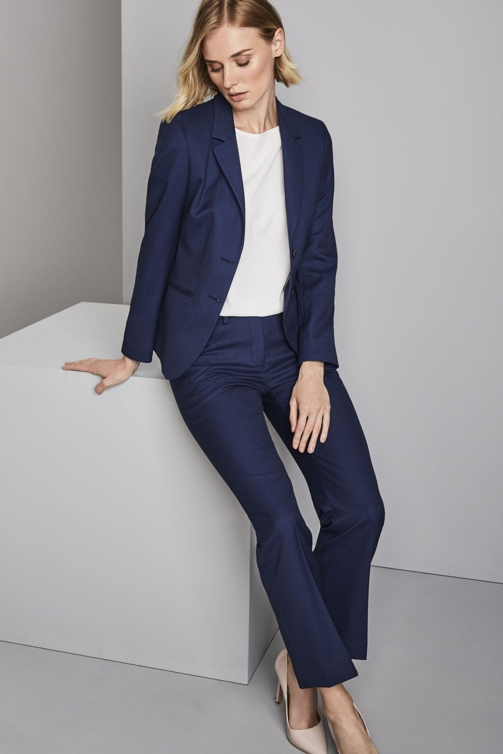 2e7c03b056b Contemporary Women's Blue Suit - SUITS from Simon Jersey UK