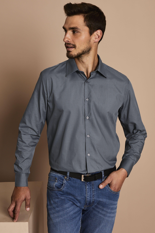 Elite Fan Shop Herren Dunkelgraues Langarmshirt Long Sleeve Shirt Dark Charcoal Gray