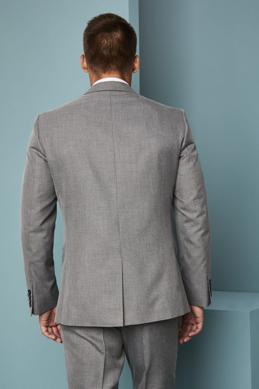 Men\u0027s Alderley Suit Jacket, Grey Sharkskin