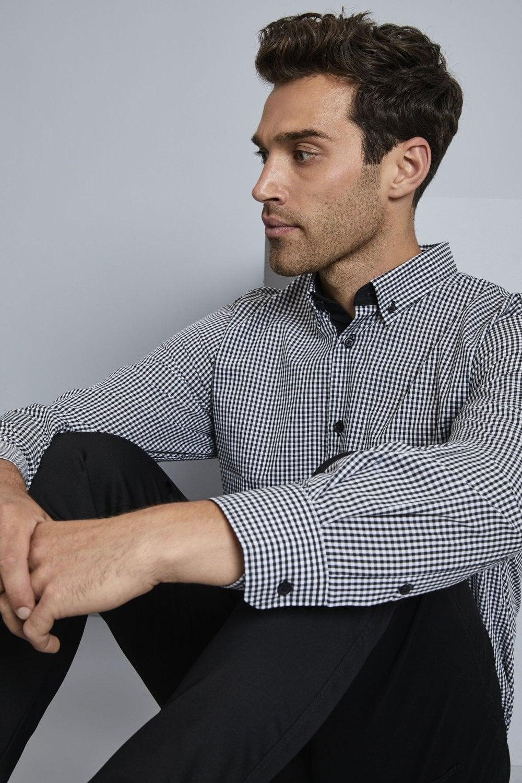 Strange Simon Jersey Mens Long Sleeve Check Shirt Schematic Wiring Diagrams Amerangerunnerswayorg