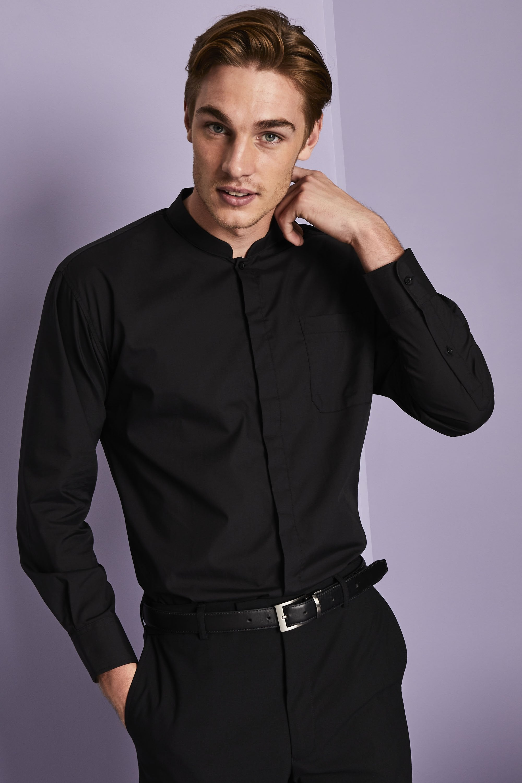 Marvelous Long Sleeve Mandarin Collar Shirt Simon Jersey Corporate Uniforms Schematic Wiring Diagrams Amerangerunnerswayorg