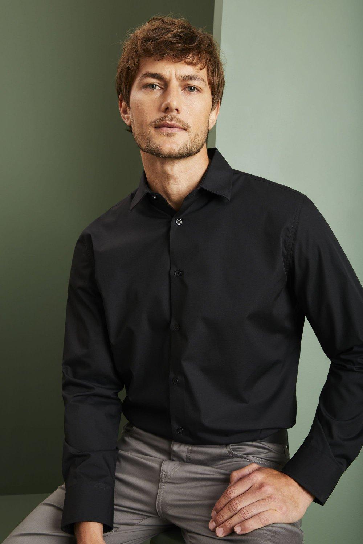 Incredible Mens Long Sleeve Shirt Black Shop All From Simon Jersey Uk Schematic Wiring Diagrams Amerangerunnerswayorg
