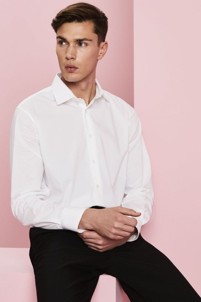 Modern Fit Long Sleeve Shirt With Stretch