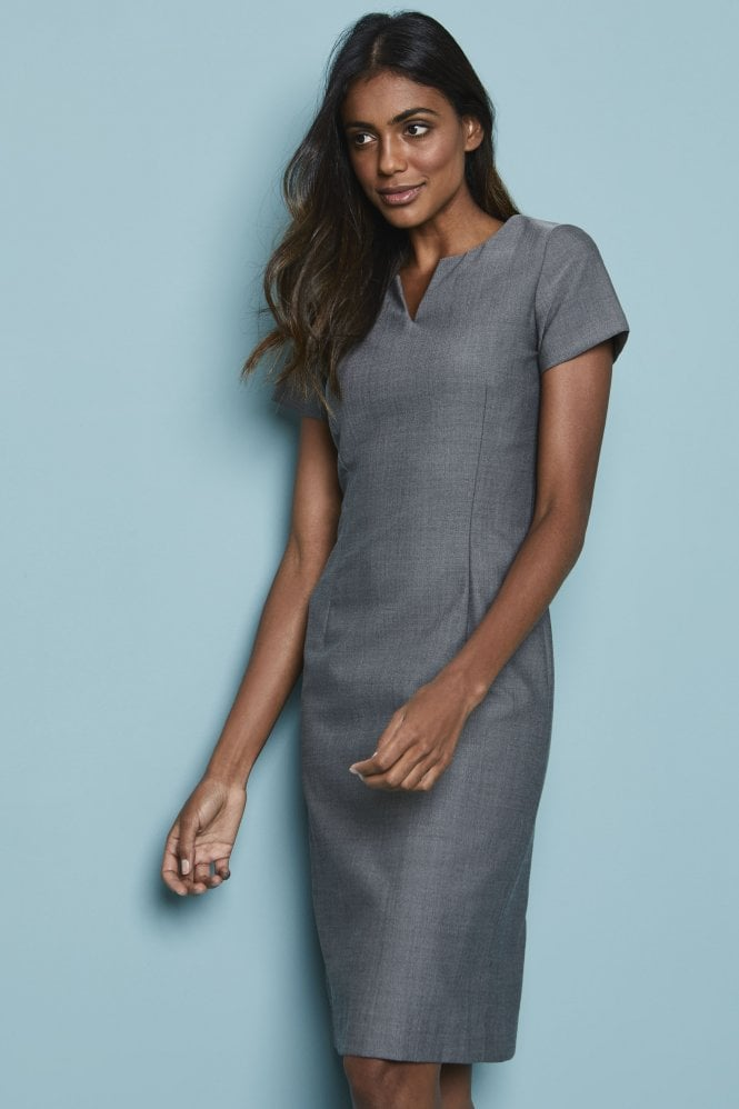 Notch Neckline Dress