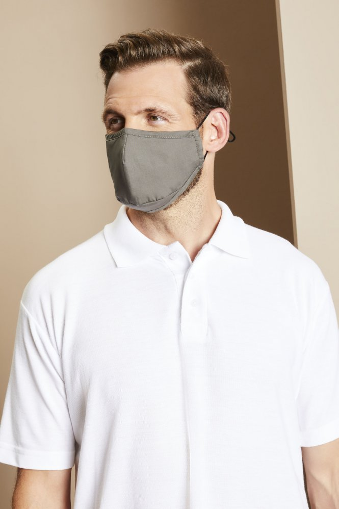 Premier Protective 3-Layer Fabric Mask, Dark Grey