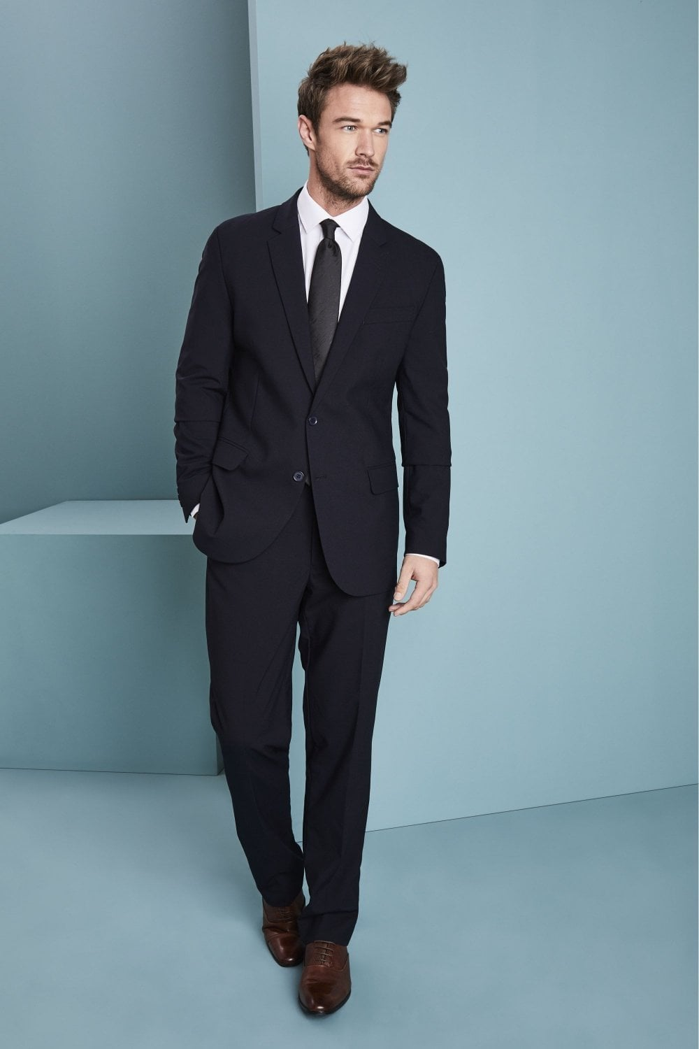 143fa10f Qualitas Men's Navy Suit - SUITS from Simon Jersey UK
