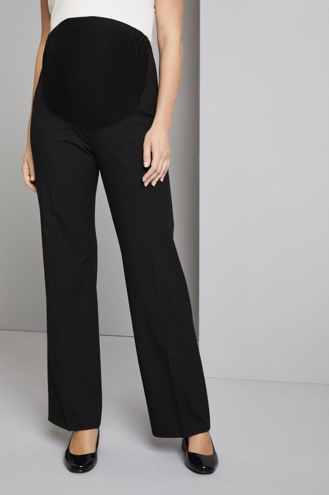Qualitas Polywool Parallel Leg Maternity Trousers