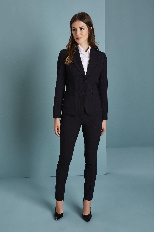 533e95da4ff4 Qualitas Women's Navy Stripe 2 Button Suit - SHOP ALL from Simon Jersey UK