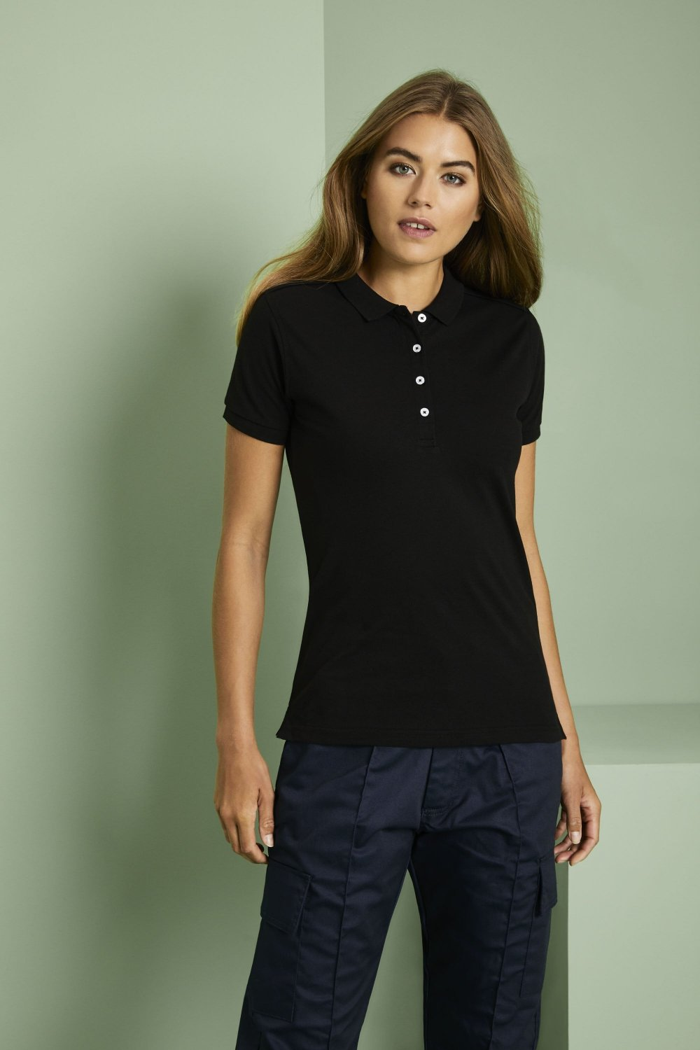 Russell Polo Mujer Negro