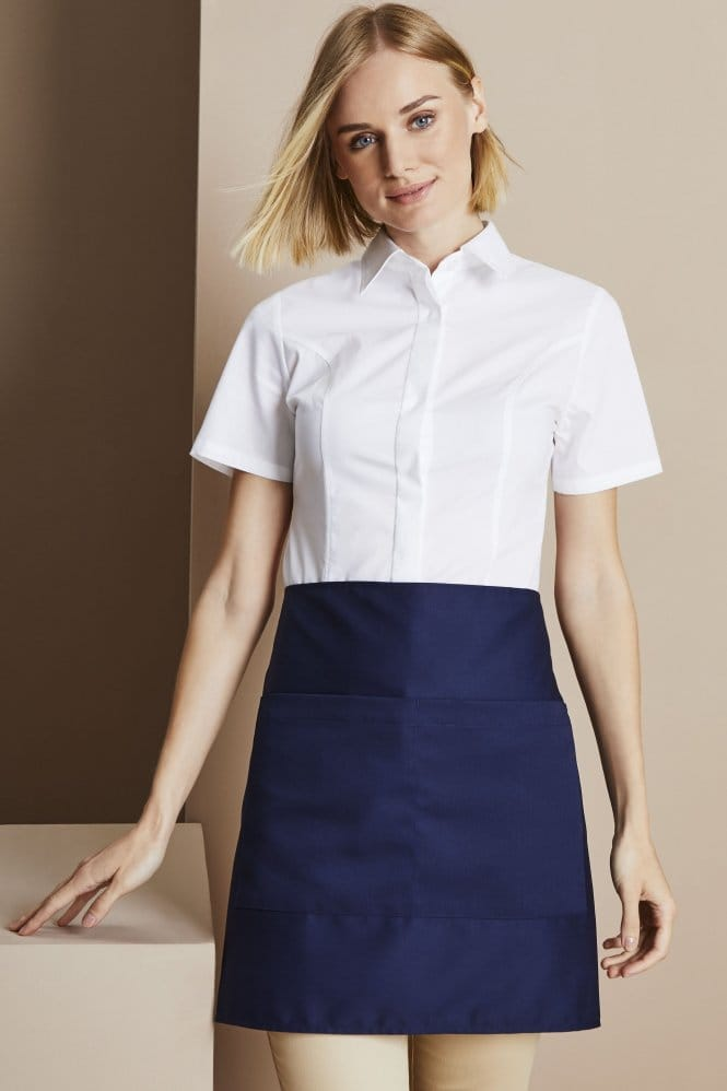 Short Apron With Pocket, Navy