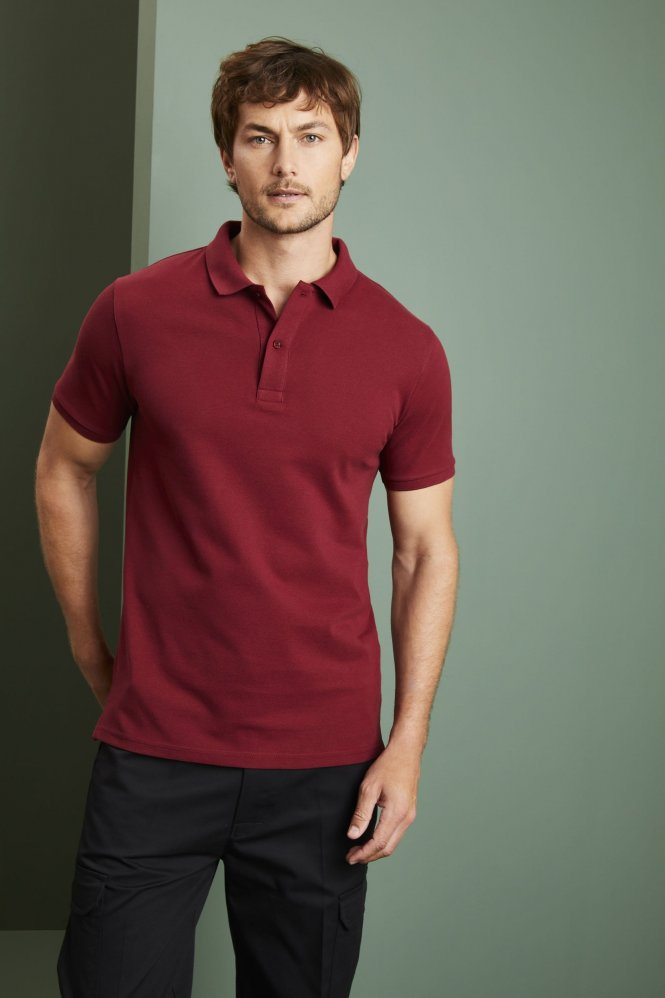 Stanley/Stella Men's Stanley Dedicator Iconic Polo Shirt, Burgundy