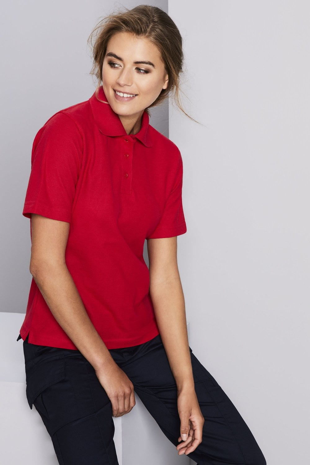Uneek Womens Polo Shirt Red