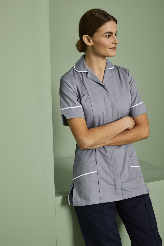056b918e3321e Women's Healthcare Tunic - Hospital Grey with White Trim - Simon ...