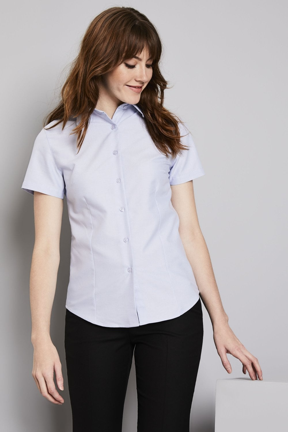 79e4dfbf0 Women's Oxford Short Sleeve Blouse - Simon Jersey Company Uniforms