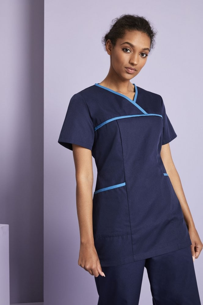 Women's Pull On Tunic with Coloured Trim
