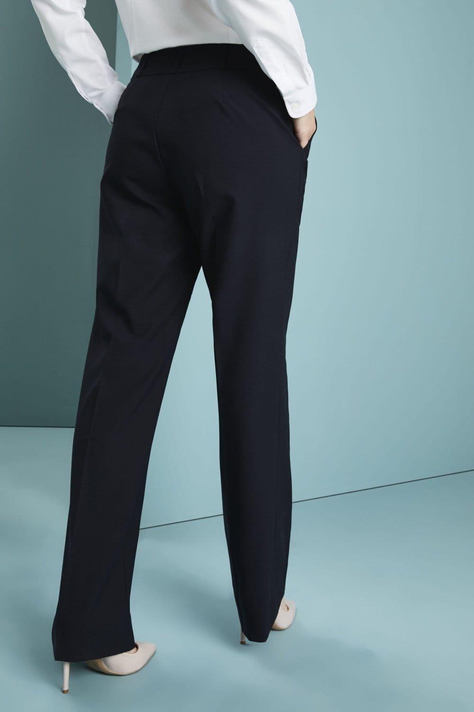 "NEW trousers 36/"" waist Regular leg mens dark Navy blue nearly black work NHS"