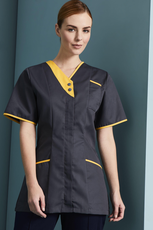 Simon Jersey Womens Zip Front Healthcare Tunic